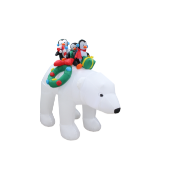 Image de DECOR - INFLATABLE 7' POLAR BEAR AND FRIENDS