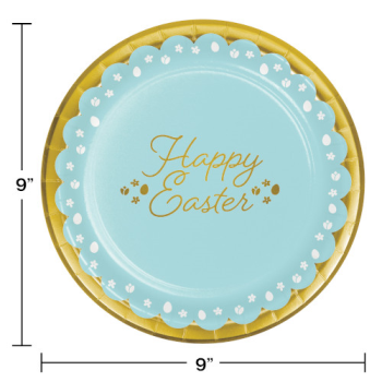 """Picture of TABLEWARE - GOLDEN EASTER 9"""" FOIL PLATES"""