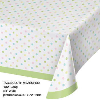 Picture of TABLEWARE - EASTER DOTS PLASTIC TABLE COVER