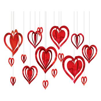 Image de DECOR - 3D FOIL HEARTS DECO KIT