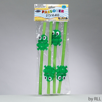 Picture of PASSOVER - FROG PLASTIC STRAW