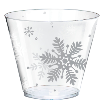 Picture of TABLEWARE - SNOWFLAKE 9oz  PLASTIC TUMBLERS