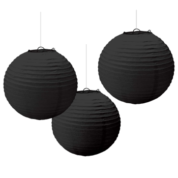 Picture of BLACK PAPER LANTERNS - 9 1/2""