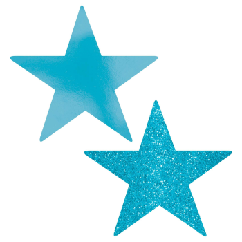 "Picture of CARIBBEAN BLUE 5"" STAR CUTOUT"
