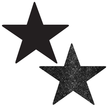 "Picture of BLACK 5"" STAR CUTOUT"