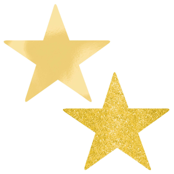 "Picture of GOLD 5"" STAR CUTOUT"