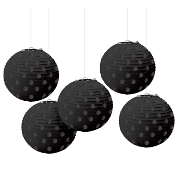 Picture of BLACK MINI LANTERNS - HOT STAMPED