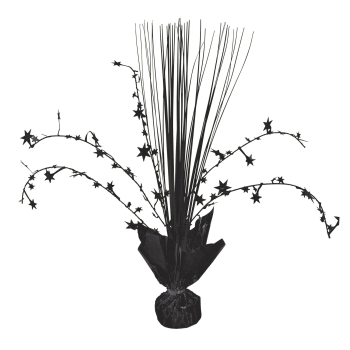 "Picture of BLACK 12"" SPRAY CENTER PIECE"