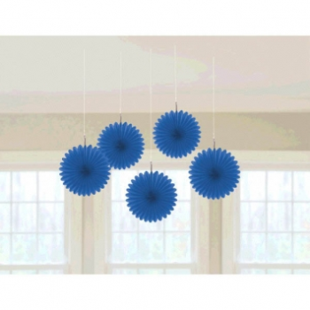 "Picture of BLUE 6"" MINI HANGING FAN"