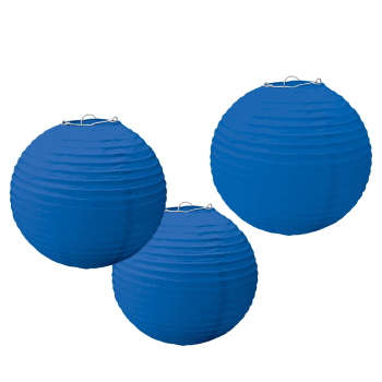 Picture of BLUE PAPER LANTERNS - 9 1/2""