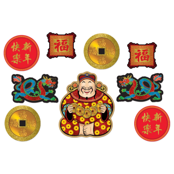 Picture of DECOR - CHINESE NEW YEAR GLITTER CUT OUTS