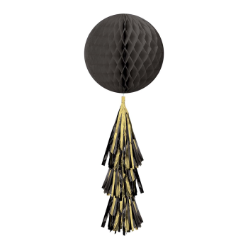 Picture of BLACK HONEYCOMB BALL WITH TASSEL