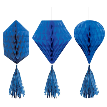 Picture of BLUE MINI HONEYCOMB HANGING SHAPES