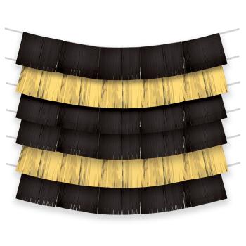 Image de BLACK AND GOLD FOIL FRINGE BACKDROP