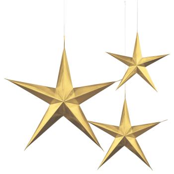 Image de GOLD HANGING 3D STARS