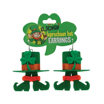 Picture of WEARABLES - ST PATS LEPRECHAUN HAT EARRINGS