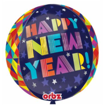 "Picture of 18"" - GEOMETRIC NEW YEAR - ORBZ BALLOON"