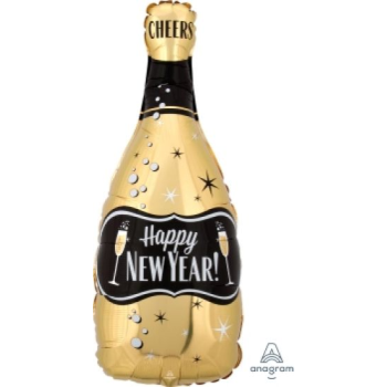 Picture of 18'' FOIL - HAPPY NEW YEAR BOTTLE JUNIOR SHAPE