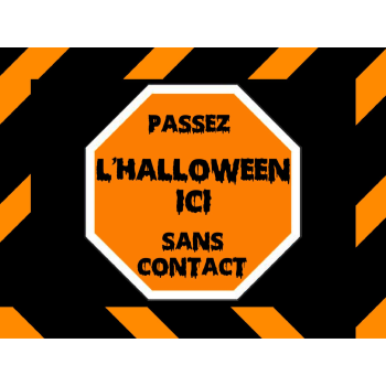 Picture of LAWN YARD SIGN - HALLOWEEN FRENCH