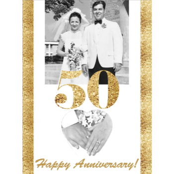Picture of LAWN YARD SIGN - WEDDING ANNIVERSAY PERSONALIZED