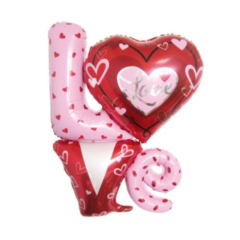 """Picture of 34"""" LOVE SUPERSHAPE- INCLUDES HELIUM"""
