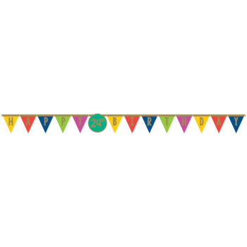 Picture of DECOR - HAPPY DOTS JUMBO ADD ANY AGE LETTER BANNER