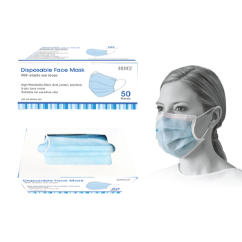 Image de MASKS - DISPOSABLE FACE MASKS - 50/BOX BLUE