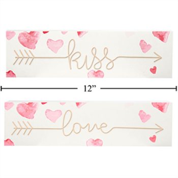 Picture of DECOR - VALENTINE'S WALL DECORATION - LOVE AND KISS