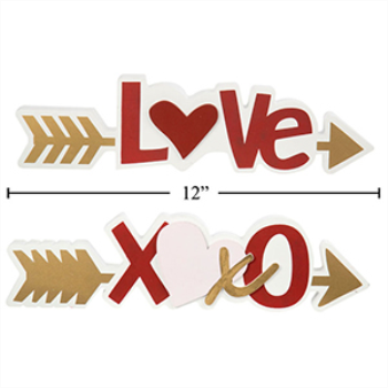 Picture of DECOR - ARROW TABLE TOP DECORATION - LOVE AND XOXO