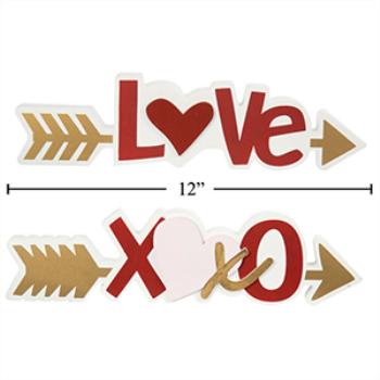 Image de DECOR - ARROW TABLE TOP DECORATION - LOVE AND XOXO
