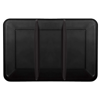 Image de SERVING WARE - TRAY WITH COMPARTMENTS - BLACK - 9 X 14