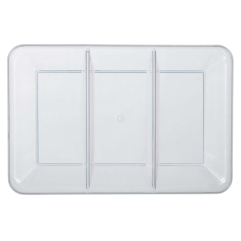 Image de SERVING WARE - TRAY WITH COMPARTMENTS - CLEAR - 9 X 14