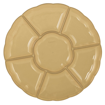 "Picture of SERVING WARE - TRAY 16"" CHIP AND DIP  - GOLD"