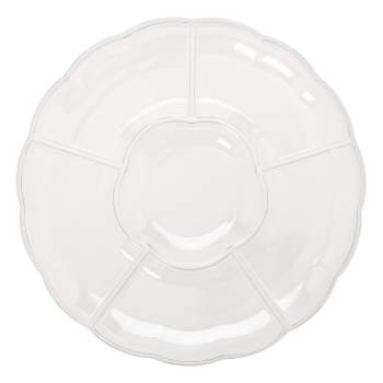 "Image de SERVING WARE - TRAY 16"" CHIP AND DIP  - CLEAR"