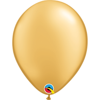 "Picture of HELIUM FILLED SINGLE 11"" BALLOON - PEARL GOLD"