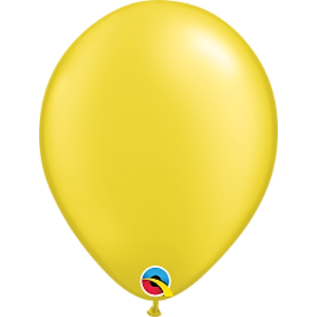 "Picture of HELIUM FILLED SINGLE 11"" BALLOON - PEARL CITRINE YELLOW"