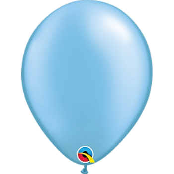 "Picture of HELIUM FILLED SINGLE 11"" BALLOON - PEARL AZURE LT BLUE"