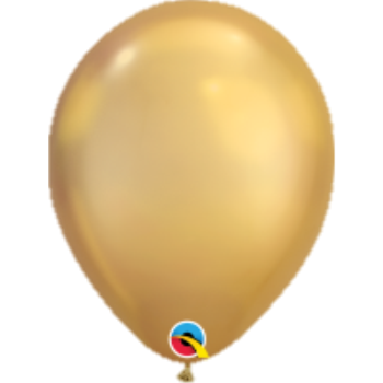 "Picture of HELIUM FILLED SINGLE 11"" BALLOON - CHROME GOLD"