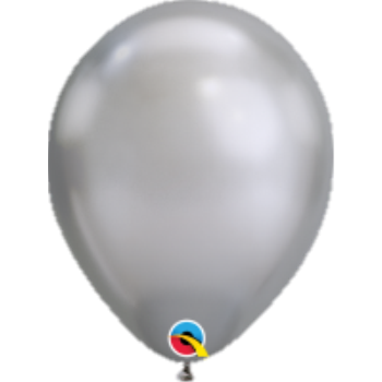 "Picture of HELIUM FILLED SINGLE 11"" BALLOON - CHROME SILVER"