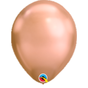 "Picture of HELIUM FILLED SINGLE 11"" BALLOON - CHROME ROSE GOLD"