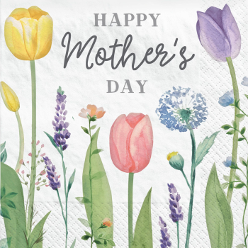 Image de MOTHER'S DAY TULIP LUNCHEON NAPKINS