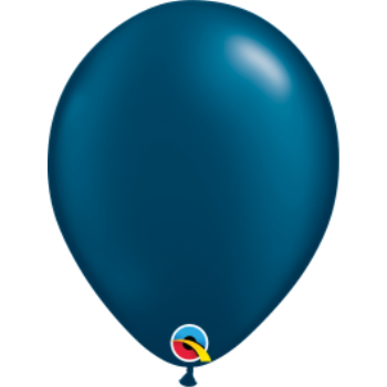 "Picture of HELIUM FILLED SINGLE 11"" BALLOON - PEARL NAVY BLUE"