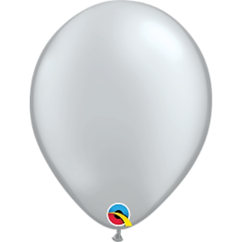 "Picture of HELIUM FILLED SINGLE 11"" BALLOON - PEARL SILVER"