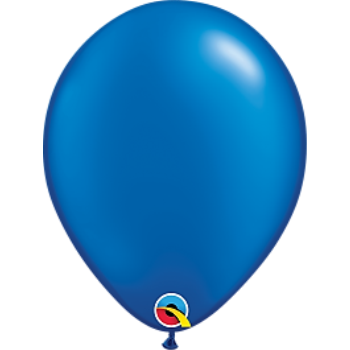 "Picture of HELIUM FILLED SINGLE 11"" BALLOON - PEARL ROYAL BLUE"