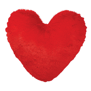 Picture of DECOR - VALENTINE'S DAY HEART SHAPED SHAGGY PILLOW
