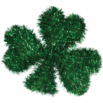 Picture of DECOR - MINI TINSEL SHAMROCK