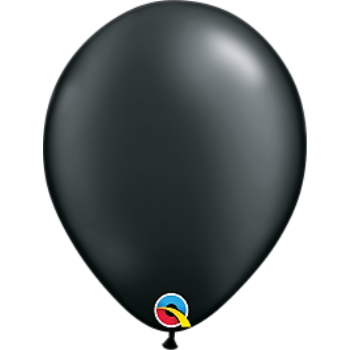 "Picture of HELIUM FILLED SINGLE 11"" BALLOON - PEARL BLACK"
