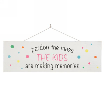 Picture of PARDON THE MESS WALL PLAQUE