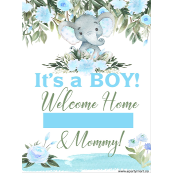 "Picture of LAWN YARD SIGN - BABY SHOWER - ""WRITE A NAME"" BLUE"