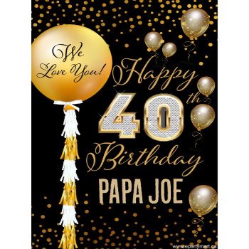 Picture of 40th - LAWN YARD SIGN - 40TH SPARKLING PERSONALIZED